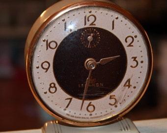 Vintage Alarm CLOCK Lux Lebanon with Copper Tones Waterbury Conn. RETRO Time