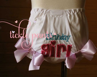 Birthday Girl diaper cover- bloomer- Made to match your Birthday Outfit
