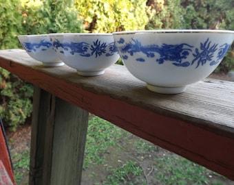 FREE SHIPPING vintage dragonware bowls dragon bowls (Vault B2)