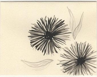 dandelion card and envelope