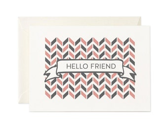 Hello Friend   Greeting Card   Gift Card   Toodles Noodles