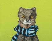 Public School Weasel- Small Print 4.5x4.5