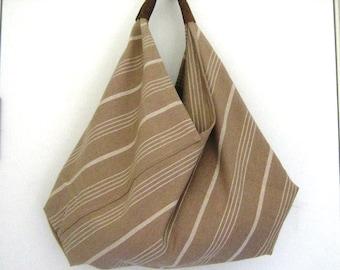 Linen Bento Japanese Large Slouchy Shoulder Bag
