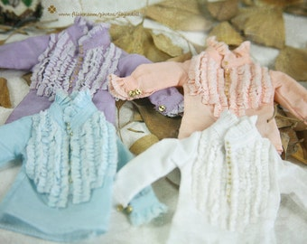 jiajiadoll- Any 4 color piece of laced shirts fit momoko or misaki or blythe or azone