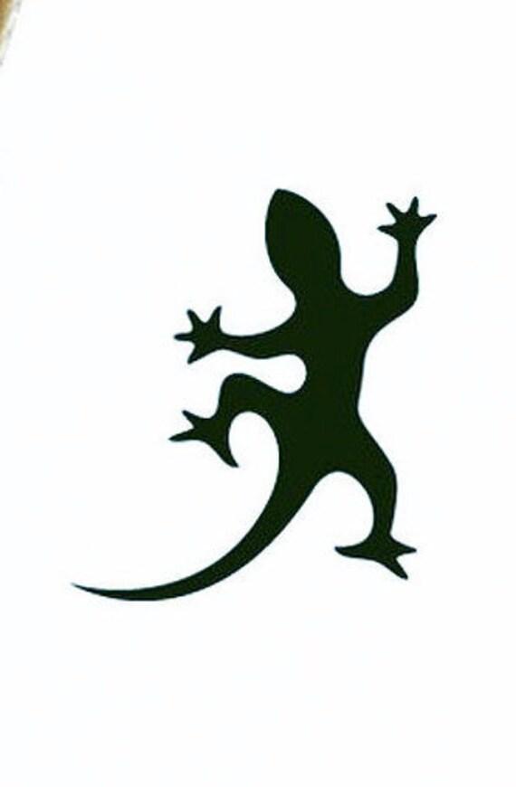 Geco adesivi murali lucertole riproduzione taglio di for Disegno geco