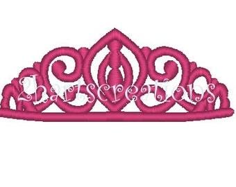 Princess Tiara Embroidery Design - 2 digital files
