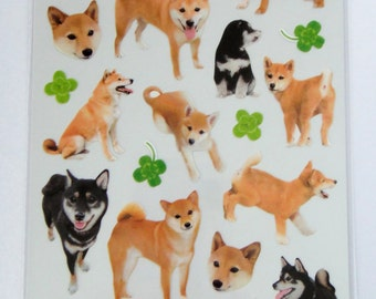 Cute Real Dogs / Puppies Photo Stickers From Japan - Shiba