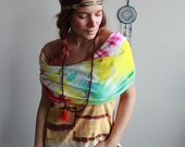 Colorful Boho Tie Dye Hoo...