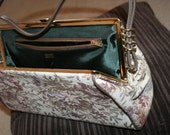 SELL OUT Victorian Style, Dover, made in USA  Floral Tapestry Clutch Handbag, Floral Tapestry Handbag Stunning