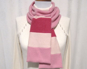 Shades of Pink Cashmere Scarf / Winter Scarf / Pink Scarf / Pink Neck Warmer (No569)
