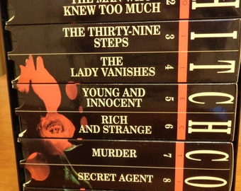 Alfred Hitchcock Tapes VHS Set of 10 Vintage Movies Collectible