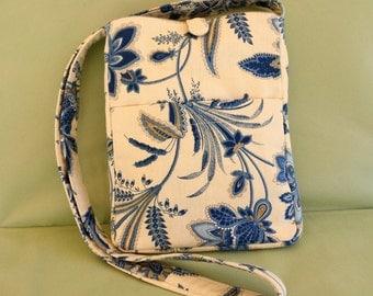 Shoulder Bag Cross Body Fabric Pocketbook Purse Handmade