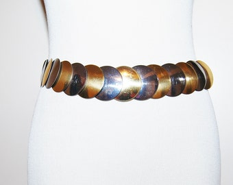 Vintage Belt Silver and Gold Circles Stretch