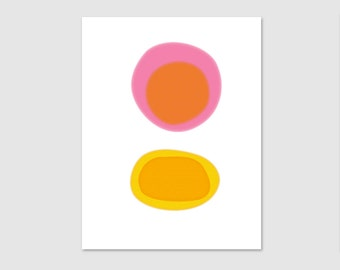 Minimalist Art, Giclee Art Print, Abstract Art Print, Modern Wall Decor, Warm Colors