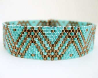 Peyote Pattern - Dots and Lines - INSTANT DOWNLOAD PDF - Peyote Bracelet Pattern - Geometric Pattern - Seed Bead Bracelet Pattern