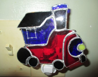 Stained Glass Train Engine nightlight
