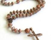 Paper Bead Rosary - 5 Decade - #1261