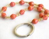 Paper Bead Keychain Wristlet Fob - #1248