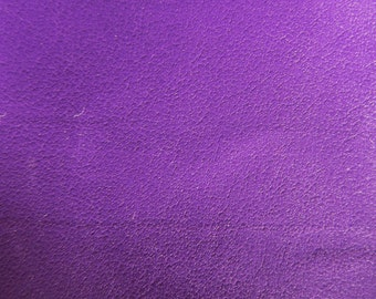 Faux Leather Fabric in Lambskin Pattern - Purple - Large Fat Quarter - Vegan Leather
