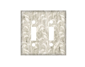 Gray  Switchplate Cover, Light Switch Cover Single, Triple Switchplate, Double switchplate, Light Switch Cover