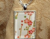 Rectangle photo pendant