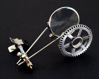 Steampunk Accessories - Steampunk Watchmaker's  Magnifing Lens