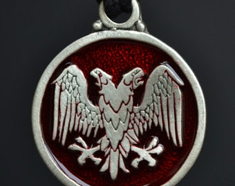 Eagle Pendant - Double Headed Eagle in Fine Pewter Your Choice of Color by Treasure Cast Pewter