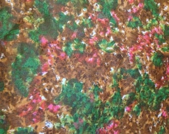 5 yards 36 wide 50s abstract print cotton chintz dressmaking fabric