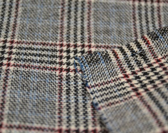 1 Yard 60 Wide 80s coat weight wool plaid suiting fabric