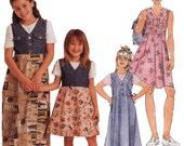 Girls Dress Sewing Pattern - McCalls 8244 - Girls Empire Waist Sewing Pattern - Uncut, FF