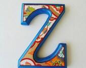 Nursery wall Letter Z, Decorative Letter Z