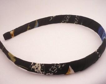 Fabric headband - Headband  for women - Black  fabric plastic  headband - Hair Accessories
