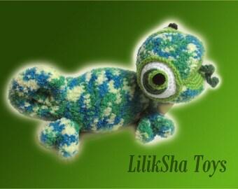 Crochet toy Amigurumi Pattern - Chameleon.