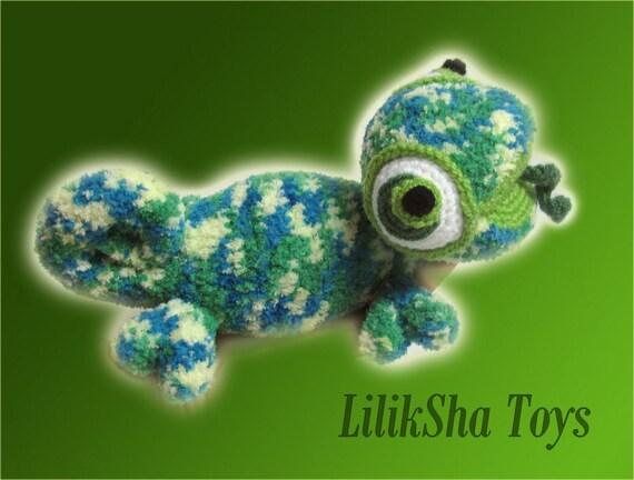 Amigurumi Chameleon Pattern : Crochet toy Amigurumi Pattern Chameleon.