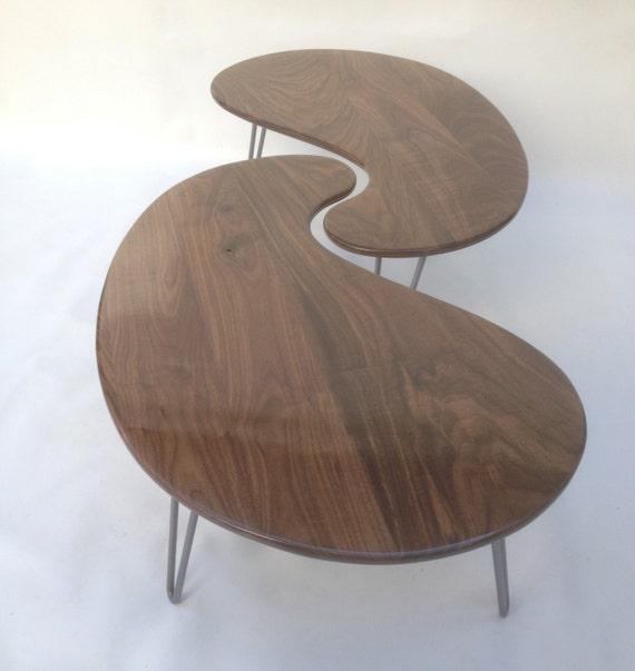 Nesting Kidney Bean Coffee Tables Mid-Century Modern