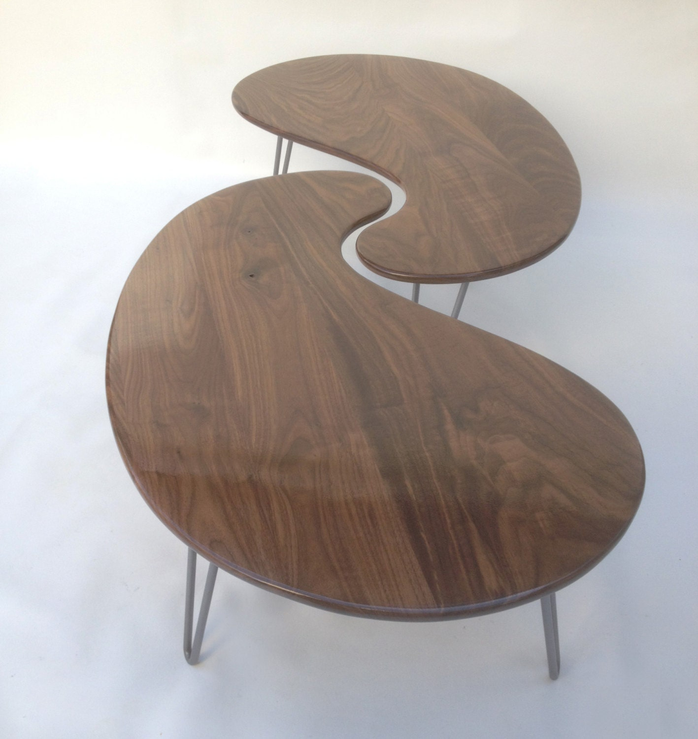 Nesting Kidney Bean Coffee Tables Mid-Century Modern
