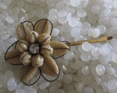 Vintage  bobby pin barrette, has a seashell look, beach bride , beach hair