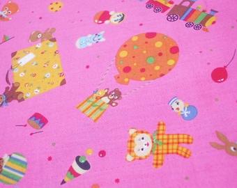 LECIEN Dream Park on Pink - Half Yard (i0628)