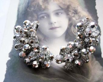Vintage Crystal Clip on Earrings