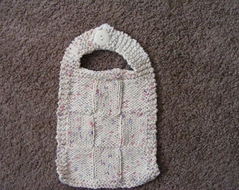 Knitted Cotton Baby Bib