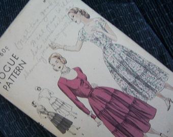 Vogue Pattern 6308 - Dress Size 14 - 1940's