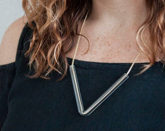 Minimal Glass Tube Necklace No. 4