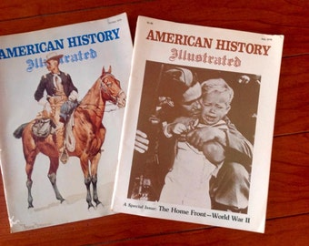 Vintage American History Magazine 1979 set of two antique paper