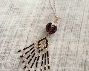 Beaded Tassel - Necklace
