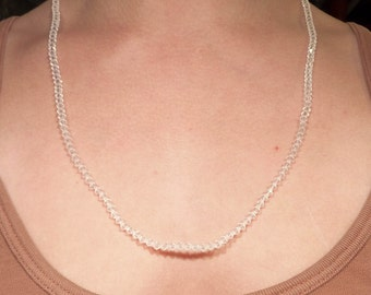 SALE --- Antique Faceted Crystal Art Glass Necklace