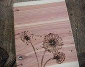 Flowers Red Cedar Wooden Journal