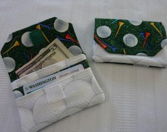 Golf Balls Travel/Gift Card Wallet
