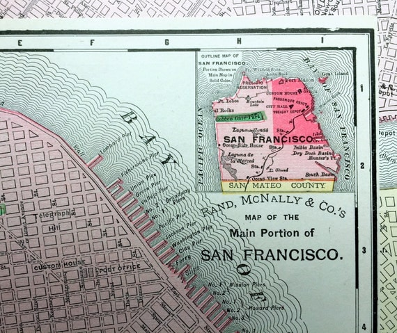 San Francisco Map Collector Images Easy To Make Vintage Map - Vintage sf map