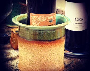 Handmade ceramic wine cooler in any color.