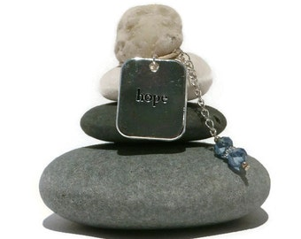 Hope Rock Cairn, Inspirational, Faith, Desire, Belief, Hospital Gift, Believe, Daydream, Wish, Optimism, Mantra, Stacked Stones, Holiday